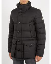 Moncler - Black Cluny Fur-trimmed Down Coat for Men - Lyst