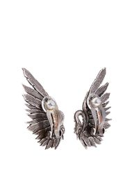 Lanvin | Black Swan Clip-on Earrings | Lyst