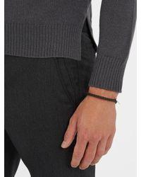 Bottega Veneta - Brown Intrecciato-woven Knot Leather Bracelet for Men - Lyst
