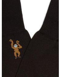 Paul Smith - Black Monkey-jacquard Socks for Men - Lyst