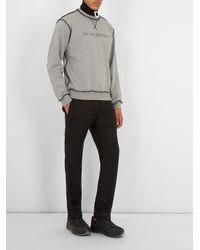 J.W. Anderson - Gray Logo-print Cotton-jersey Sweatshirt for Men - Lyst
