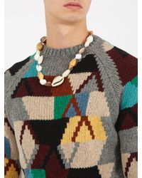 Prada - Multicolor Multi-shell Necklace - Lyst