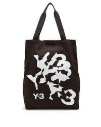 Y-3 - Black Logo-print Tote - Lyst