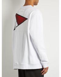 Raf Simons - White Arrow-print Cotton-jersey Sweatshirt for Men - Lyst