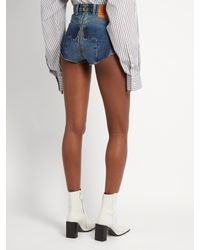 Vetements - Blue X Levi's High-cut Denim Shorts - Lyst