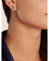 Monique Péan | Metallic Diamond, Agate & White-gold Earrings | Lyst