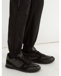 Valentino - Black Full Leather Camouflage Trainers for Men - Lyst