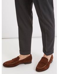 Fratelli Rossetti - Brown Azir Contrast-stitch Suede Loafers for Men - Lyst