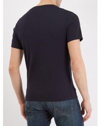 American Vintage - Blue Denver Crew-neck Cotton T-shirt for Men - Lyst