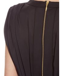 Maison Rabih Kayrouz - Black V-neck Silk-charmeuse Dress - Lyst