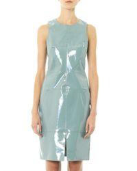 Richard Nicoll - Green Patent Leather Panel Dress - Lyst