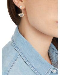Delfina Delettrez - Blue Diamond Pearl and Gold Eye Single Earring - Lyst