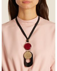 Marni - Multicolor Abstract-pendant Necklace - Lyst
