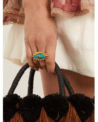 Sylvia Toledano - Purple Evil Eye Gold-plated Ring - Lyst