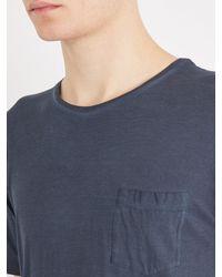 Massimo Alba - Blue Watercolour-effect Cotton T-shirt for Men - Lyst