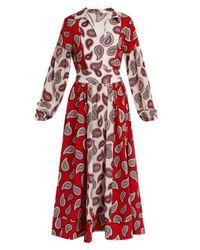 Dodo Bar Or - Red Harrison Paisley-print Silk Midi Dress - Lyst