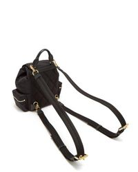 Burberry - Black Small Nylon And Leather Backpack - Lyst