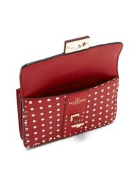 Valentino - Red Rockstud Polka-dot Cross-body Leather Bag - Lyst
