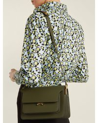 Marni - Multicolor - Trunk Medium Leather Shoulder Bag - Womens - Khaki - Lyst