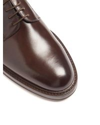 Fratelli Rossetti - Brown Leather Derby Shoes for Men - Lyst