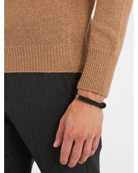 Bottega Veneta - Black Double Intrecciato-woven Leather Bracelet for Men - Lyst