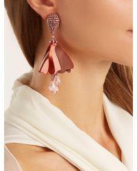 Oscar de la Renta - Multicolor Mini Impatiens Clip-on Earrings - Lyst