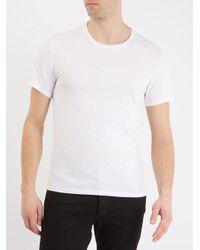 American Vintage - White Denver Crew-neck Cotton T-shirt for Men - Lyst