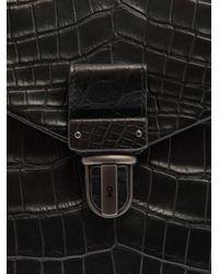 Bottega Veneta - Black Crocodile Briefcase for Men - Lyst