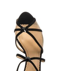 Charlotte Olympia - Black Isadora Suede Sandals - Lyst