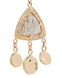 Jacquie Aiche - Metallic Diamond & Rose Gold Single Earring - Lyst