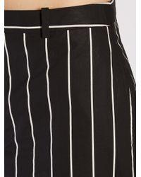Balenciaga - Black Straight-leg Striped Trousers - Lyst