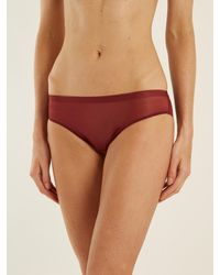 Hanro - Red Temptation Tulle Briefs - Lyst