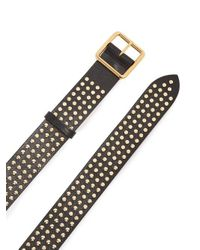 Alexander McQueen - Black Studded Leather Belt - Lyst