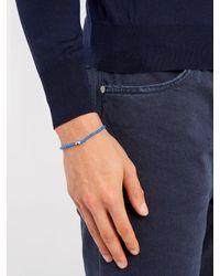 Luis Morais - Blue Mini Barrel Beaded Bracelet for Men - Lyst