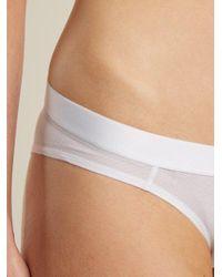Negative Underwear - White Sieve Mesh Briefs - Lyst