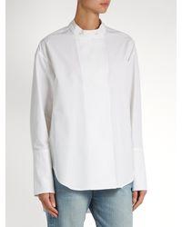 Calvin Klein - White Larabee Granddad-collar Cotton Shirt - Lyst