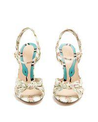 Gucci - Multicolor Allie Rose-print Leather Sandals - Lyst