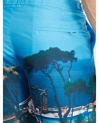 Orlebar Brown - Blue Bulldog Photographic Mid-length Swim Shorts for Men - Lyst
