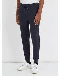 Polo Ralph Lauren - Blue Logo-embroidered Jersey Track Pants for Men - Lyst