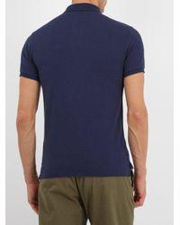 Polo Ralph Lauren - Blue Slim-fit Cotton-piqué Polo Shirt for Men - Lyst