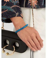 Isabel Marant - Blue Lacquered-brass Bracelet - Lyst