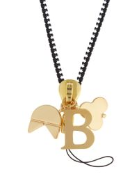 Chaos - Metallic B Gold-plated Charm for Men - Lyst