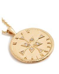 Azlee - Metallic Nesw Diamond & Yellow-gold Necklace - Lyst