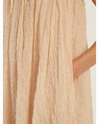 Lisa Marie Fernandez - Multicolor Nicole Gathered Striped Cotton Blend Dress - Lyst