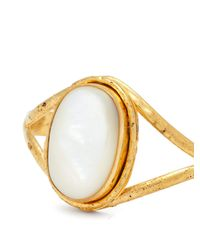 Sylvia Toledano - Metallic Gold Brass And Mother Of Peal Bangle - Lyst