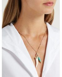 Jacquie Aiche - Metallic - Opal, Bone & Gold Necklace - Womens - Blue - Lyst