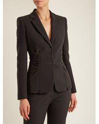 Altuzarra - Black Simeon Single-breasted Ruched-panel Cady Jacket - Lyst