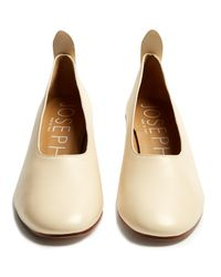 Joseph - Natural Block-heel Leather Pumps - Lyst