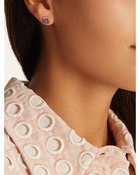 Jacquie Aiche - Blue Diamond, Tanzanite & Yellow-gold Earring - Lyst