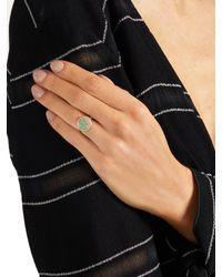 Aurelie Bidermann - Metallic Emerald & Yellow-gold Ring - Lyst